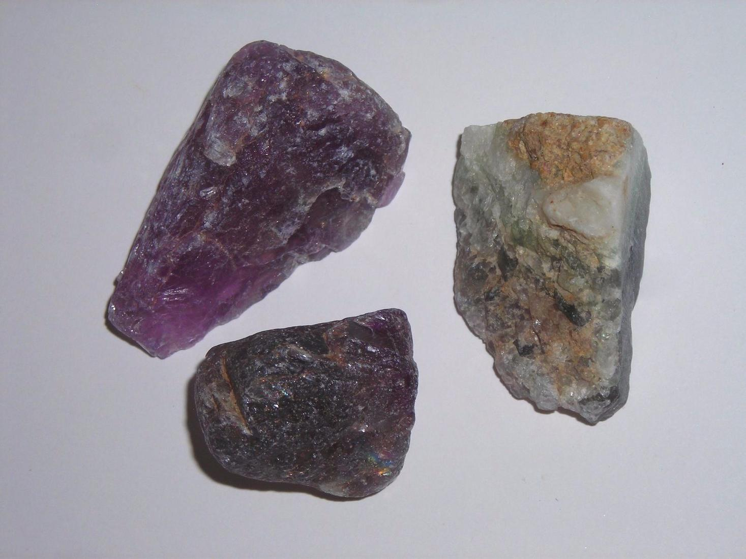 RAINBOW FLUORITE LOT-14 ROUGH SPECIMENS FROM ARGENTINA-COMBINE SHIPPING & SAVE
