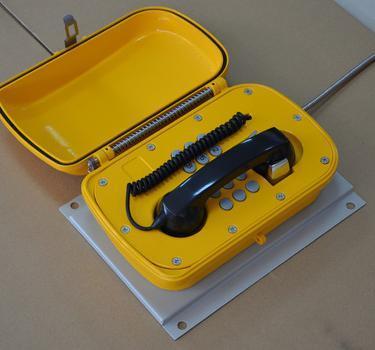 和田高速公路礦山專用防水防塵IP66電話機管廊光纖通訊終端
