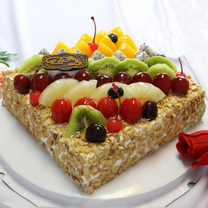 创意双层水果蛋糕图片大全(9张) - 【花卉百科网】