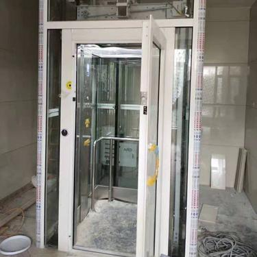 轩朗电梯手拉门家用别墅观光电梯—制造厂家-制造厂家
